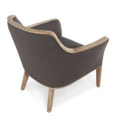 Contemporary Accent Chair High Replacement Straps Textured In Graphite Mathis Brothers Furniture