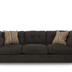 Corey Chocolate Brown Sectional Sofa Jual Bed Bestway 5 In 1 Tufted 103 Quot Microfiber Mathis