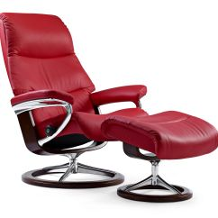 Red Leather Chair And Ottoman Reclining Chairs Movie Theater Balance Adapt In Tomato