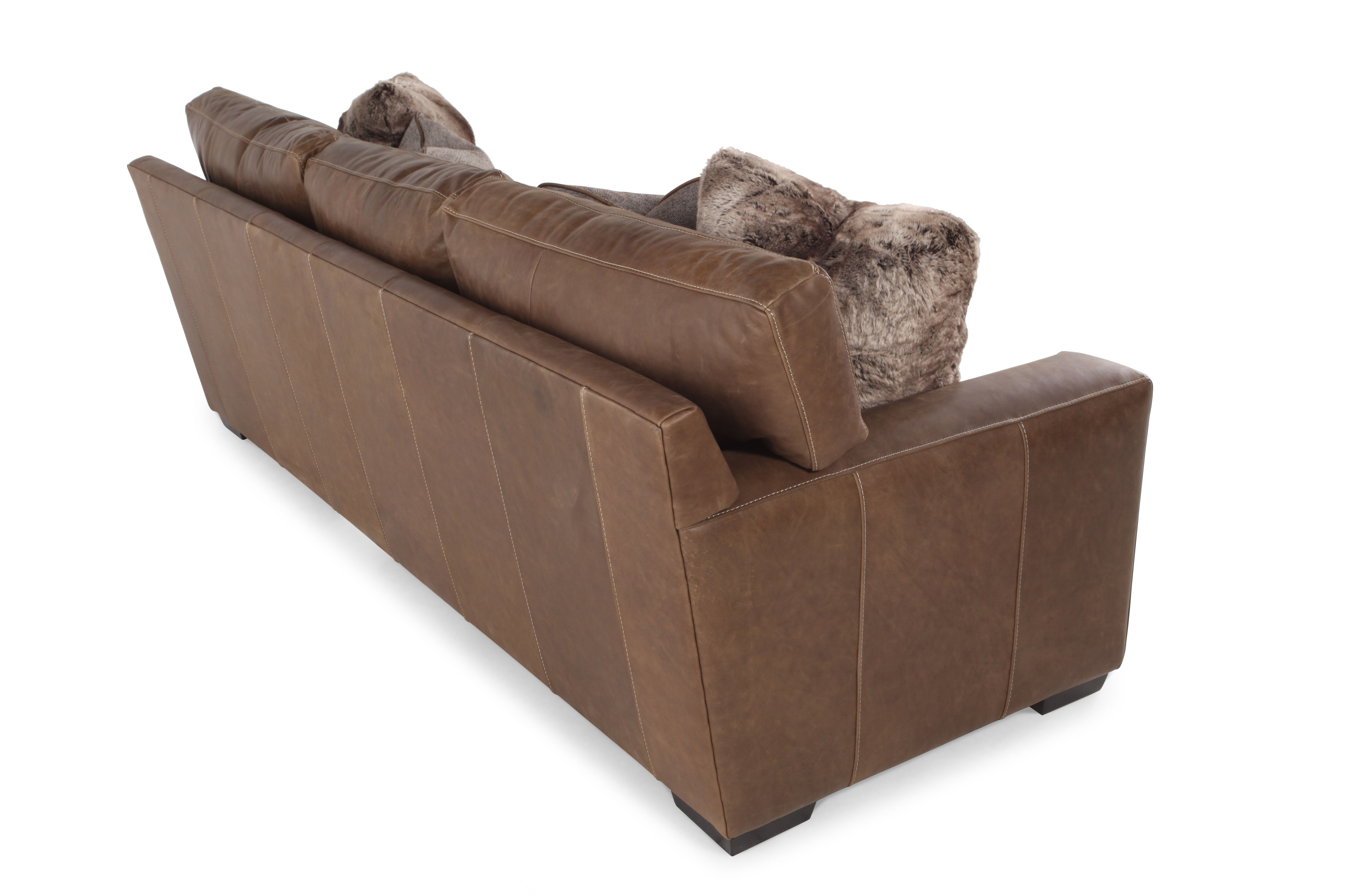 low profile leather sectional sofa custom cushions vancouver 98 quot in saddle brown mathis