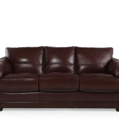 Leather Sofa Brown Contemporary Germany U18 Vs Italy Sofascore 37 Quot In Dark Mathis