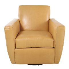 Swivel Chair Vancouver Metal Chairs Folding Leather In Butterscotch Mathis Brothers