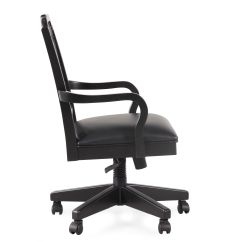 Cathedral Chairs Porch Rocking Uk Splat Back Swivel Tilt Office Chair In Black