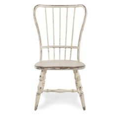 Antique White Dining Chairs Chair With Ottoman Cheap Two Piece Spindle Back 18 39 Side Set In