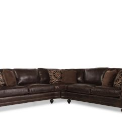 2 Piece Brown Leather Sofa 50s Style Sofas Uk Two 119 Quot Sectional In Dark Mathis
