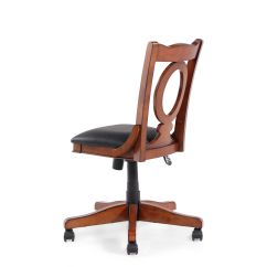 Oval Office Chair Small Lounge Chairs For Bedroom Leather Open Back Swivel Tilt In Cherry