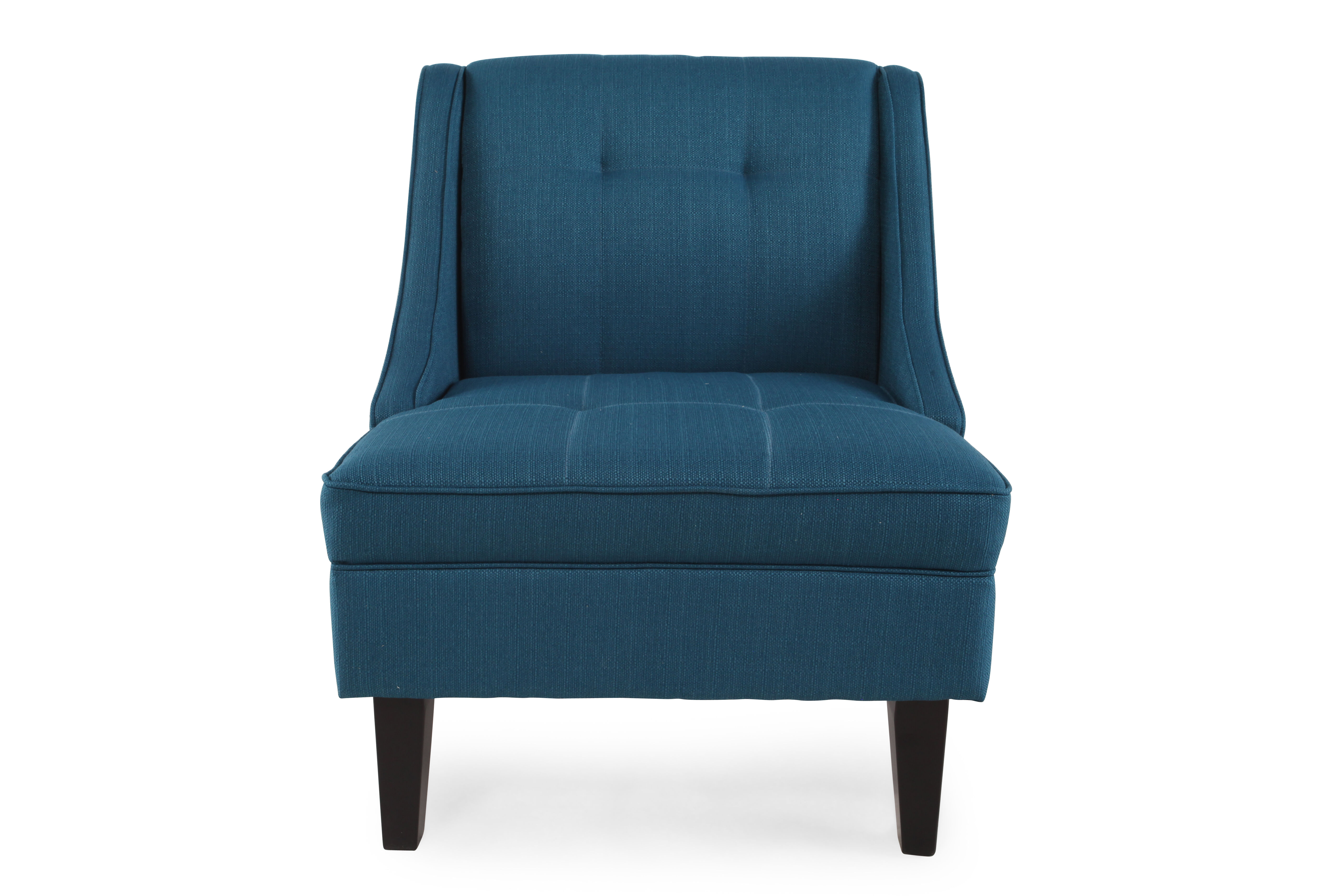home decor accent chairs linden chair stand tufted contemporary 28 quot in blue mathis