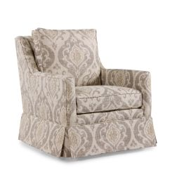 Home Decor Accent Chairs Posture Pack Seat Wedge Paisley Patterned Transitional 29 5 Quot Swivel Chair In Cream