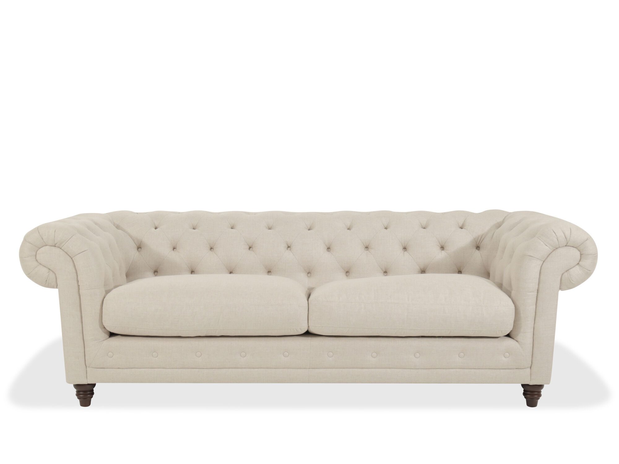 Button Tufted 93 Rolled Arm Sofa In Beige Mathis