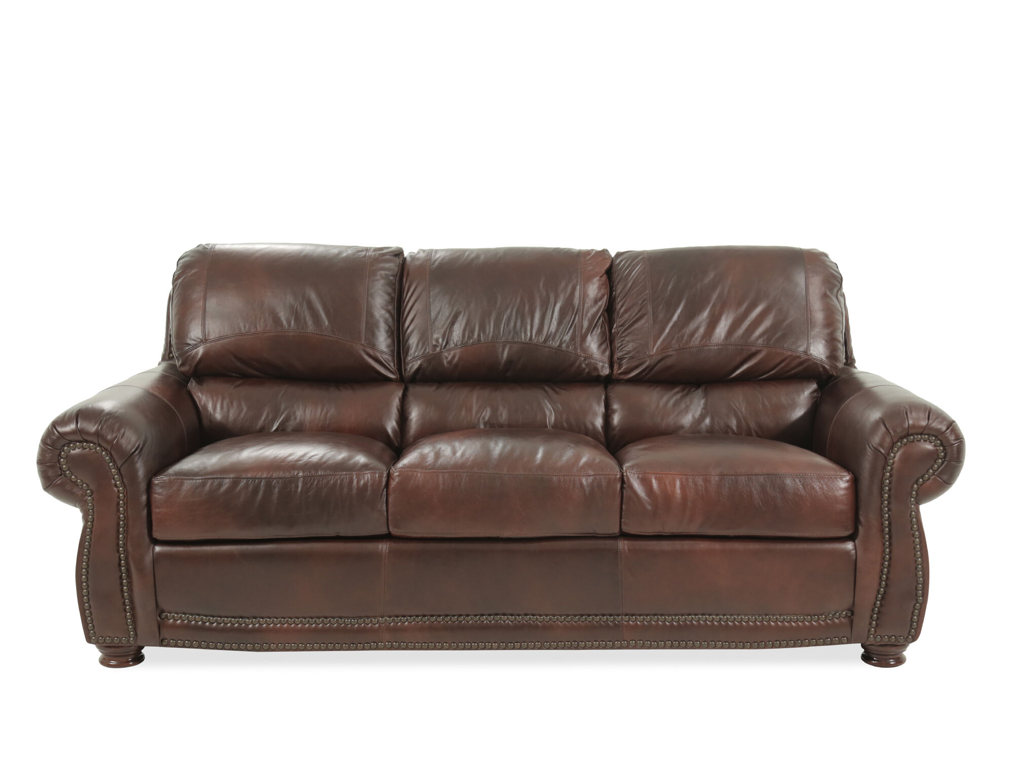 8 way hand tied sofa brands in canada laura ashley brown leather bed 85 amaretto mathis brothers furniture
