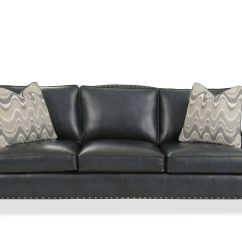 Black Leather Sofa With Nailheads Dream Design Bed Nailhead Accented 93 Quot In Mathis