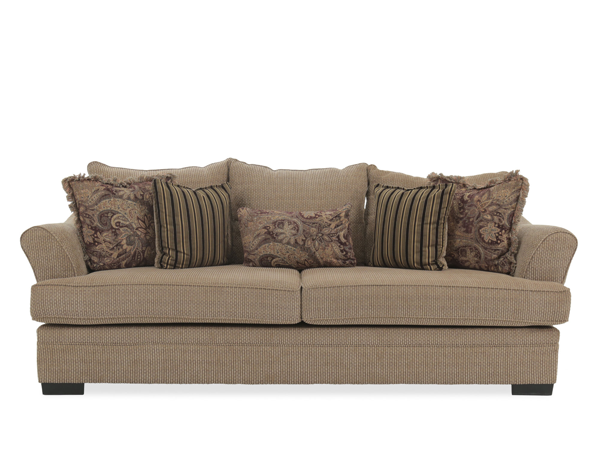 michael nicholas aspen sofa storage box 2 seat bed traditional 101 quot in nutmeg brown mathis brothers
