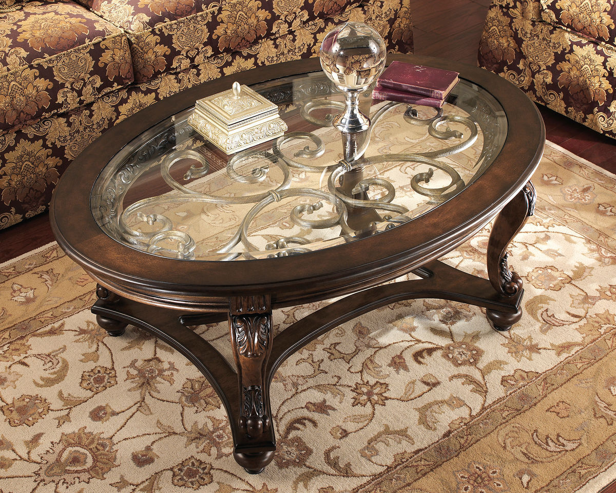 cocktail table in brown