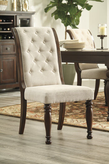 ButtonTufted 21 Side Chair in Beige  Mathis Brothers