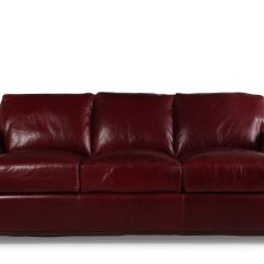 Traditional Leather Sectional Sofas Narrow Stairs 93 Quot Sofa In Marsala Red Mathis