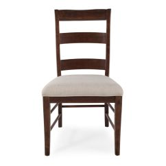 Ladder Back Dining Room Chairs Used Leather Club For Sale 40 39 Side Chair In Dark Brown Mathis