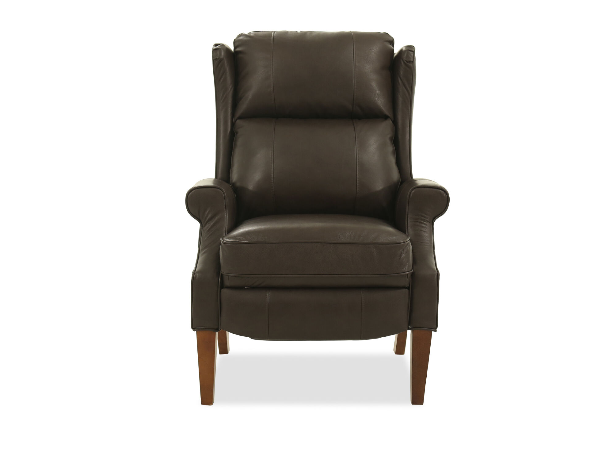Wingback 305 Leather HighLeg Recliner in Brown  Mathis