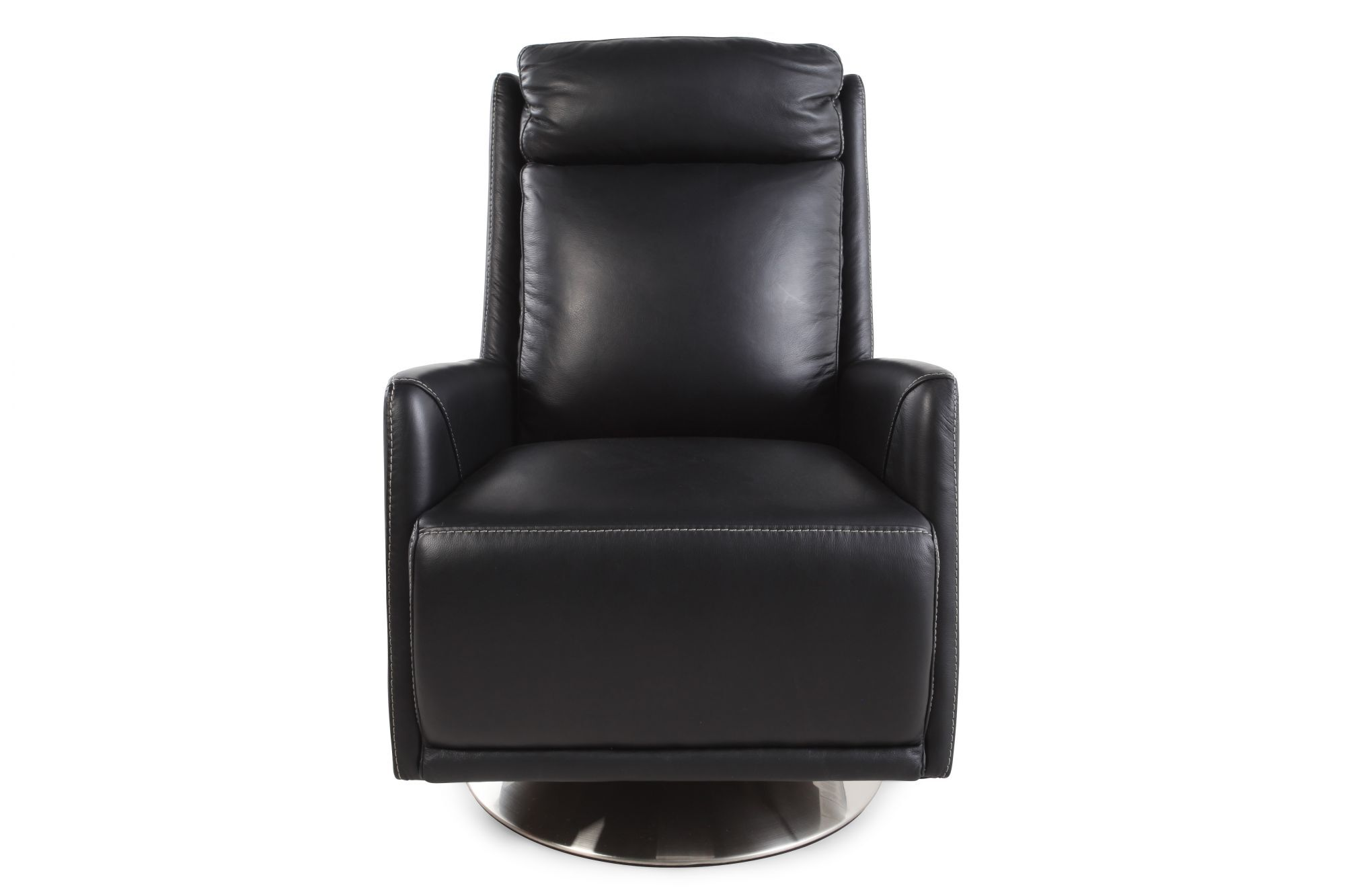tall swivel chair marilyn monroe back leather in black mathis brothers furniture