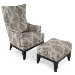 Accent Chairs With Ottomans Velvet Lounge Chair Patterned Contemporary And Ottoman Mathis
