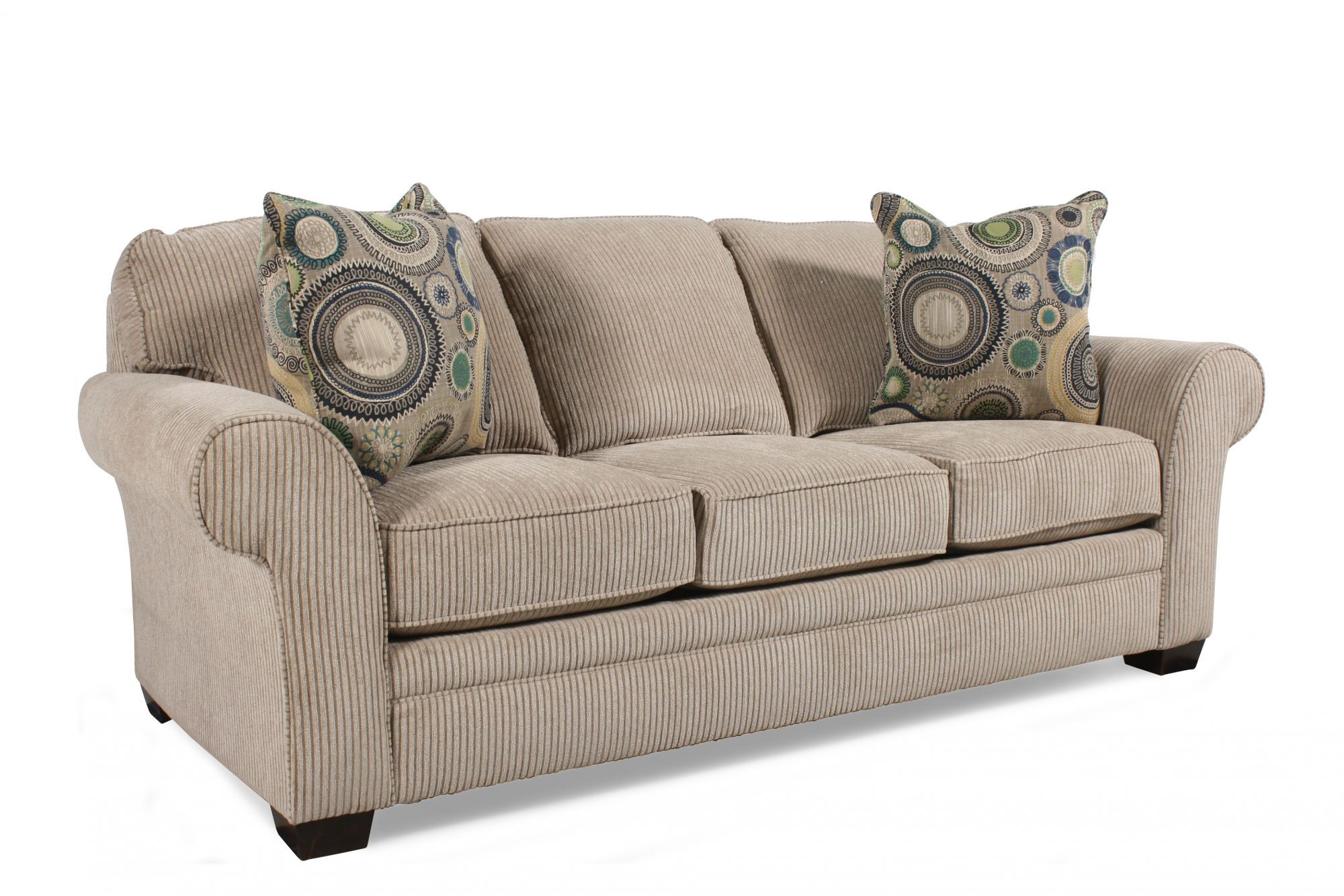 72 sleeper sofa macys sectional handcrafted rolled arm quot queen in sandstone