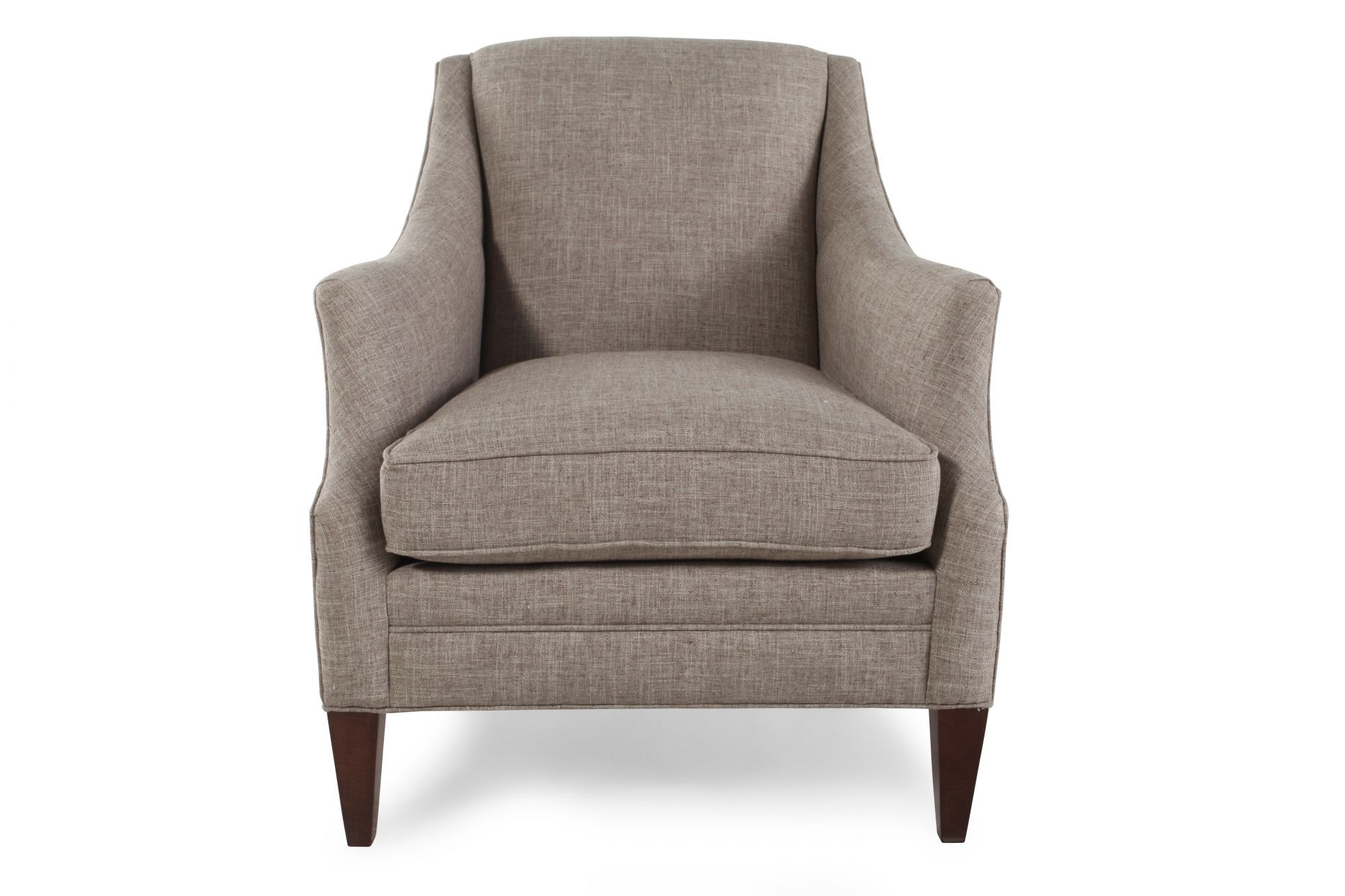 Sloped Arm Club Chair in Gray  Mathis Brothers Furniture