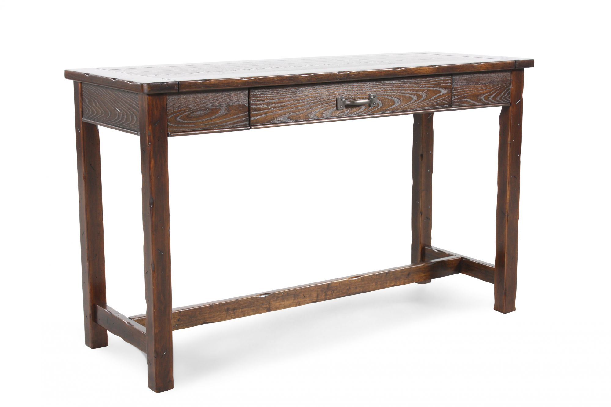 cherry sofa table with storage silver velvet towie one drawer contemporary in mathis
