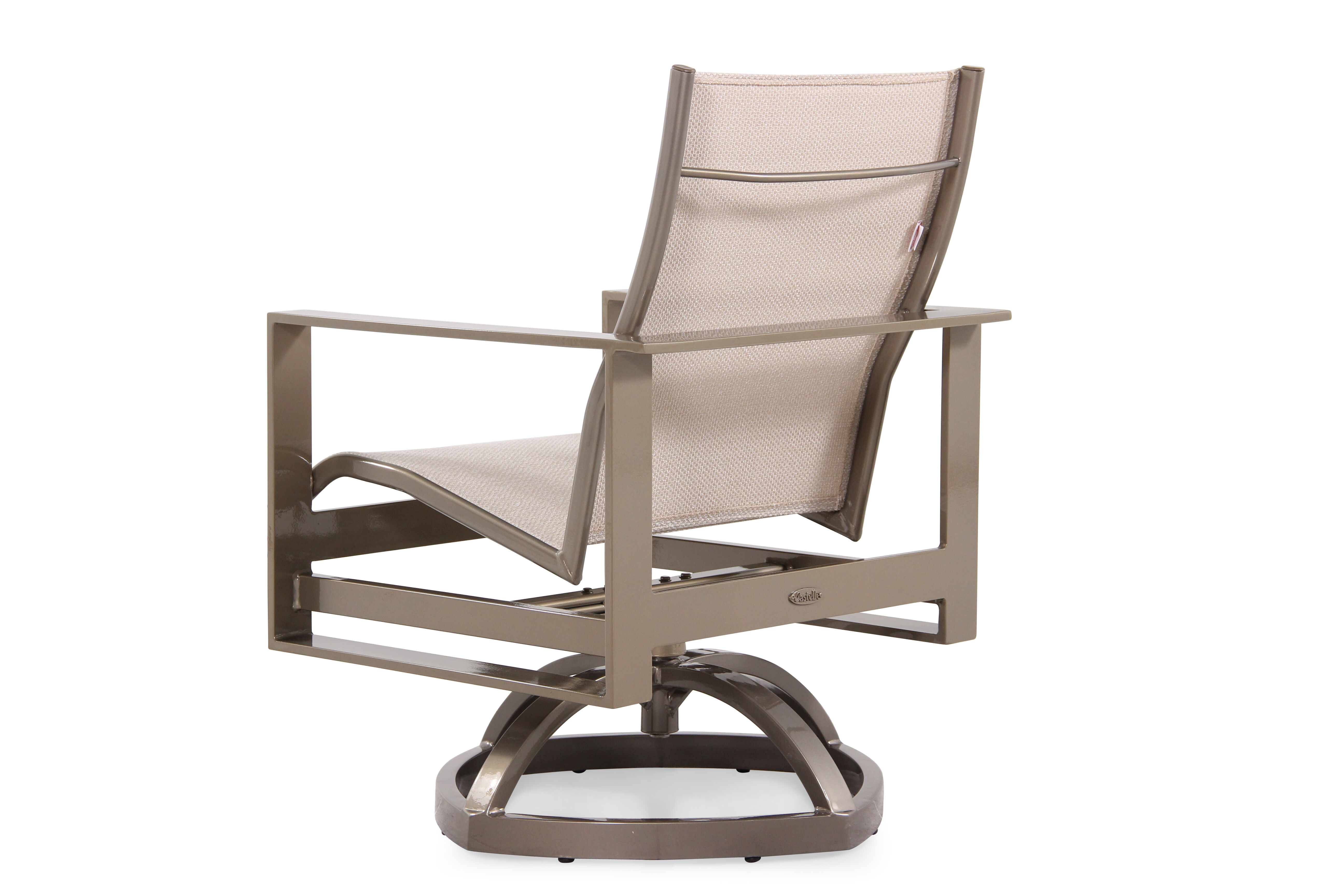 modern aluminum chair seat cushions for kitchen chairs contemporary swivel rocker in beige