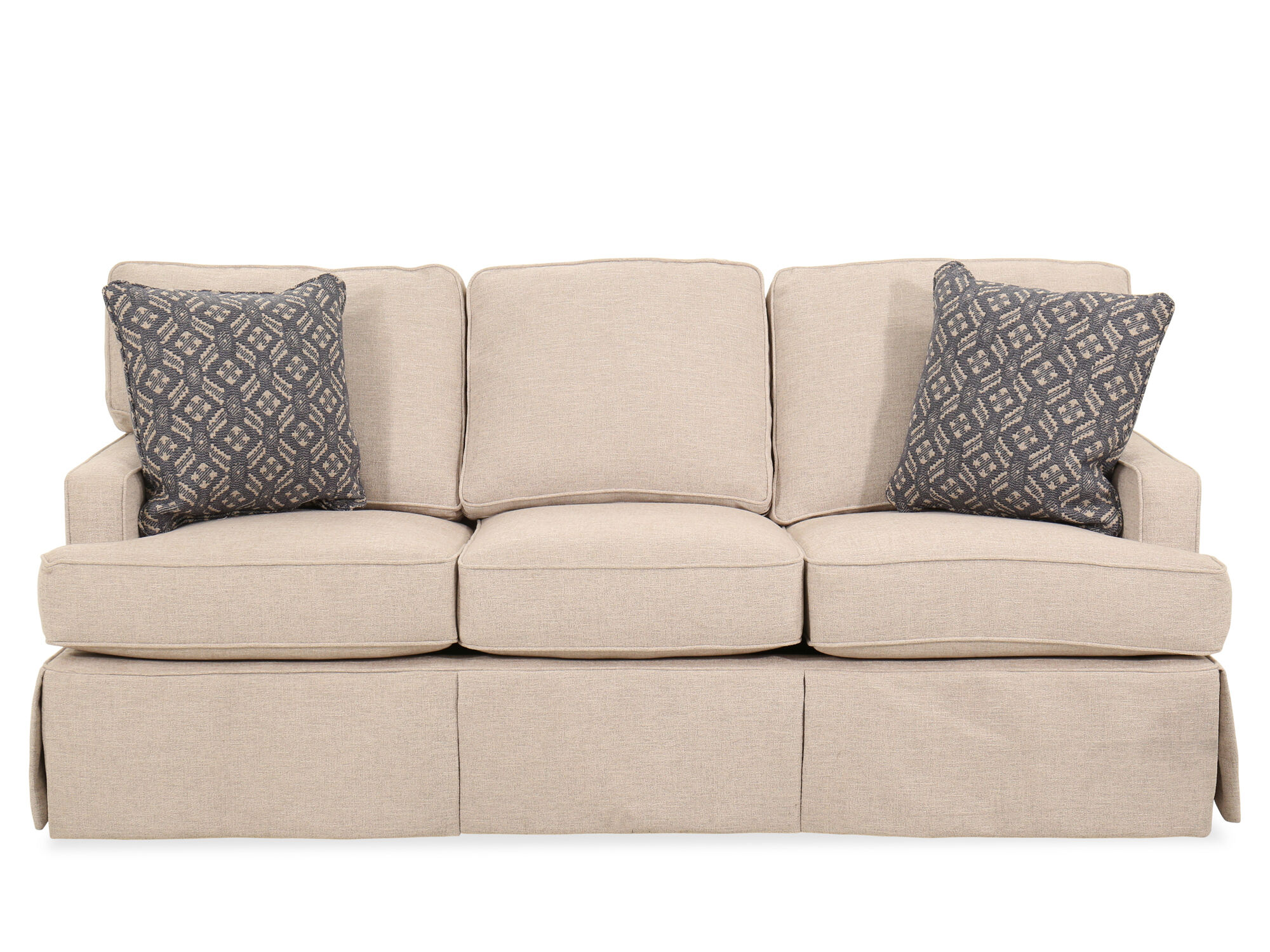 """Traditional 85"""" Sleeper Sofa in Beige   Mathis Brothers ..."""