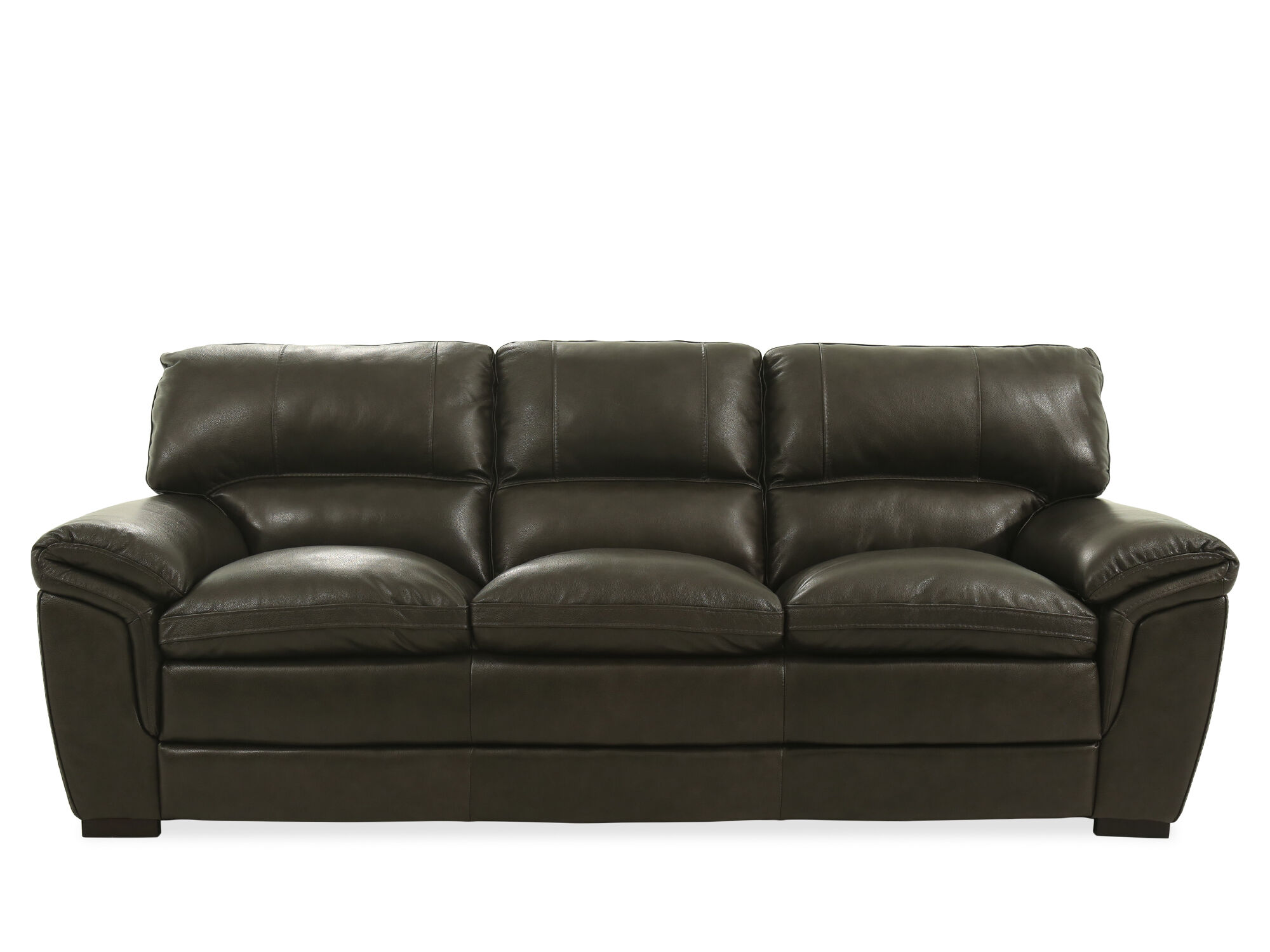 gray leather sofa images apartment 93 quot in dark mathis brothers furniture