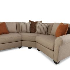 Jonathan Louis Benjamin Sectional Sofa Leather Big Lots Three Piece Contemporary In Sand Mathis