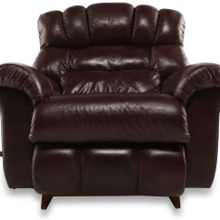 Recliner Bed Chair Swinging With Stand Uk Casual Leather 46 Quot In Bordeaux Mathis Brothers