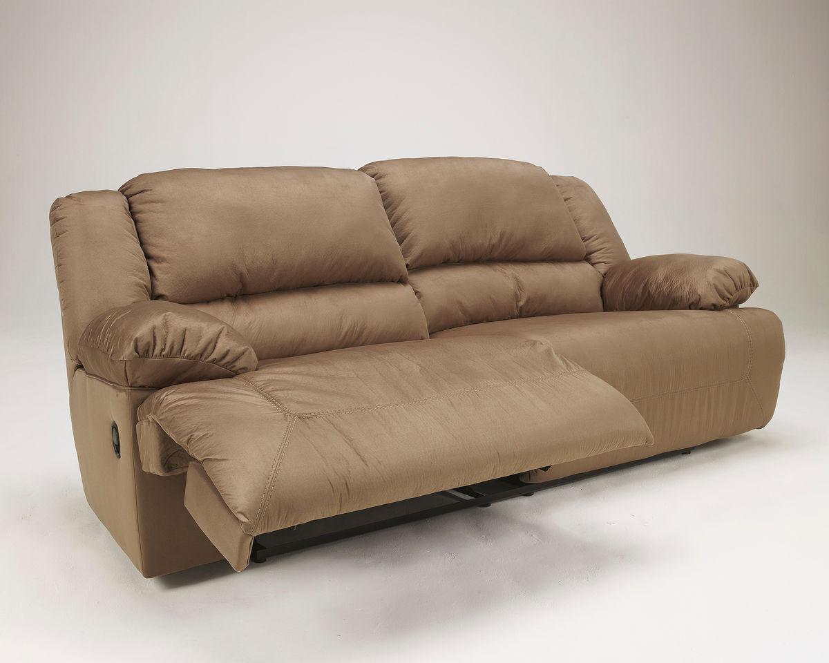 microfiber 96 reclining sofa in mocha