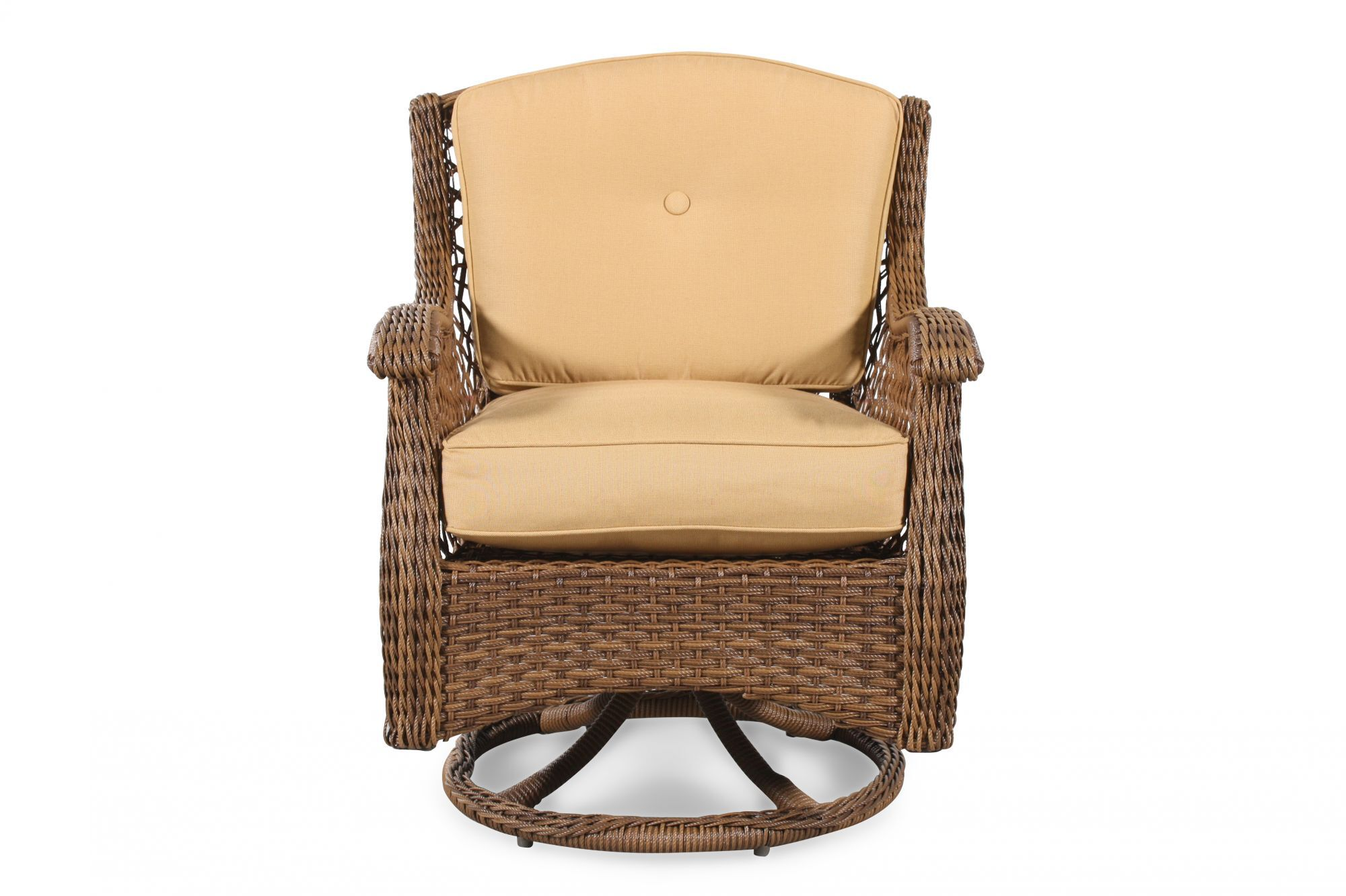 patio swivel rocker chairs jessica charles chair curved arm casual in brown mathis brothers furniture