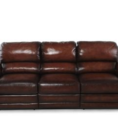 Recliner Sofas Leather Rooms To Go Santa Monica Sofa Reviews Wall Saver Reclining In Brown Mathis