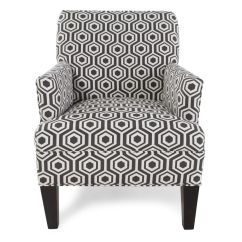 Geometric Accent Chair Kids Patio Table And Chairs Patterned In Dark Gray Mathis Brothers