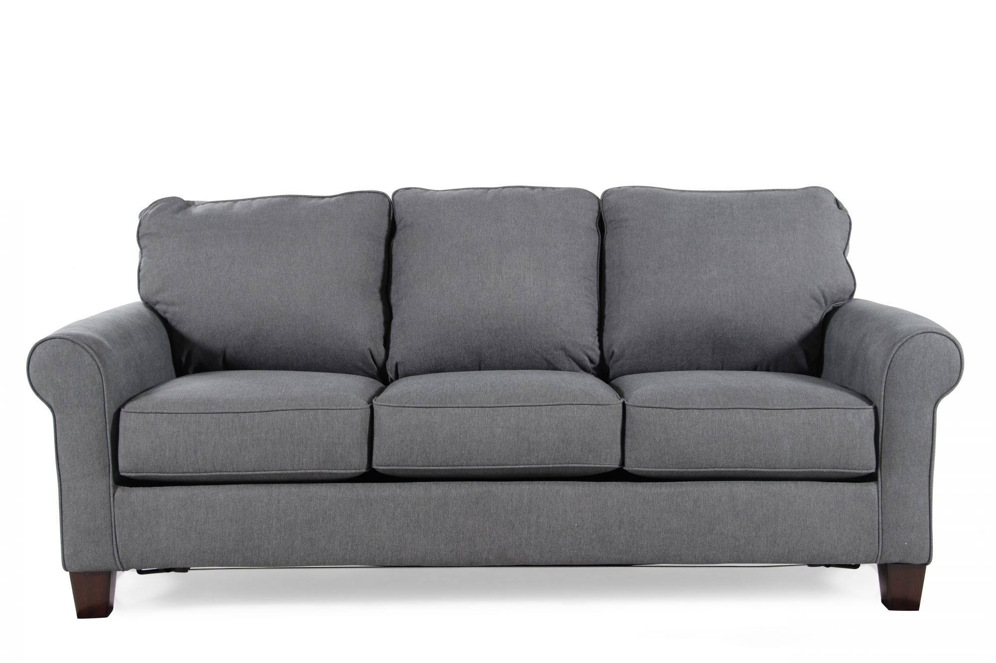 modern sleeper sofa under 1000 slouch couch bed contemporary 78 quot full in denim blue mathis