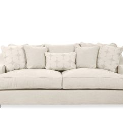 Spartan Sofa Uptown Bed With Storage Chaise Casual 98 Quot In Beige Mathis Brothers Furniture