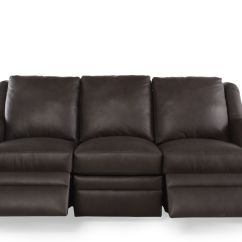 Nailhead Recliner Sofa Flip Open For Kids Accented Leather Reclining In Brown Mathis