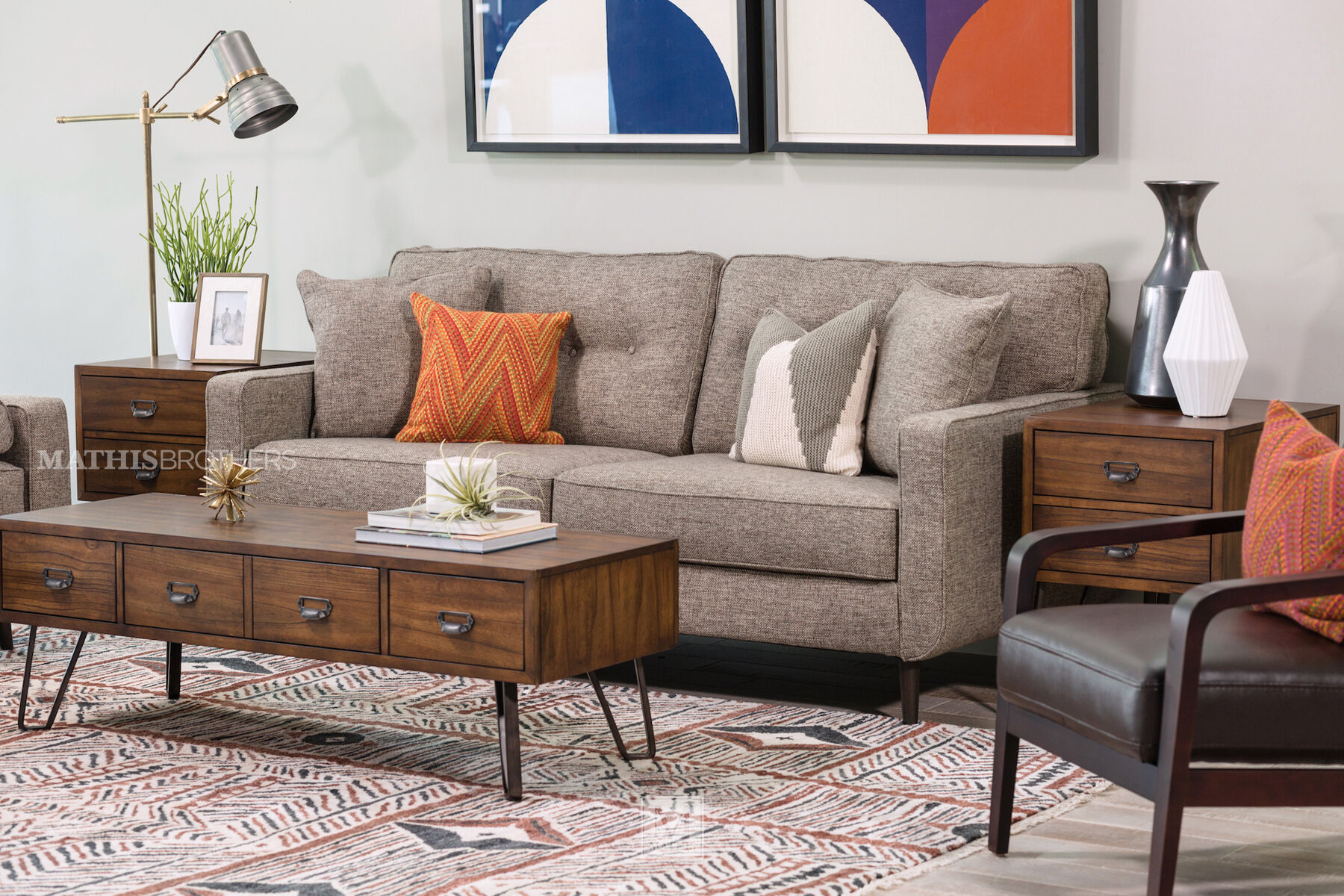 gray microfiber power reclining sofa rattan set online india sofas & couches   mathis brothers furniture stores