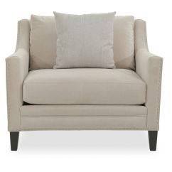 Upholstered Chair With Nailhead Trim Baby Target Large Club Silver In