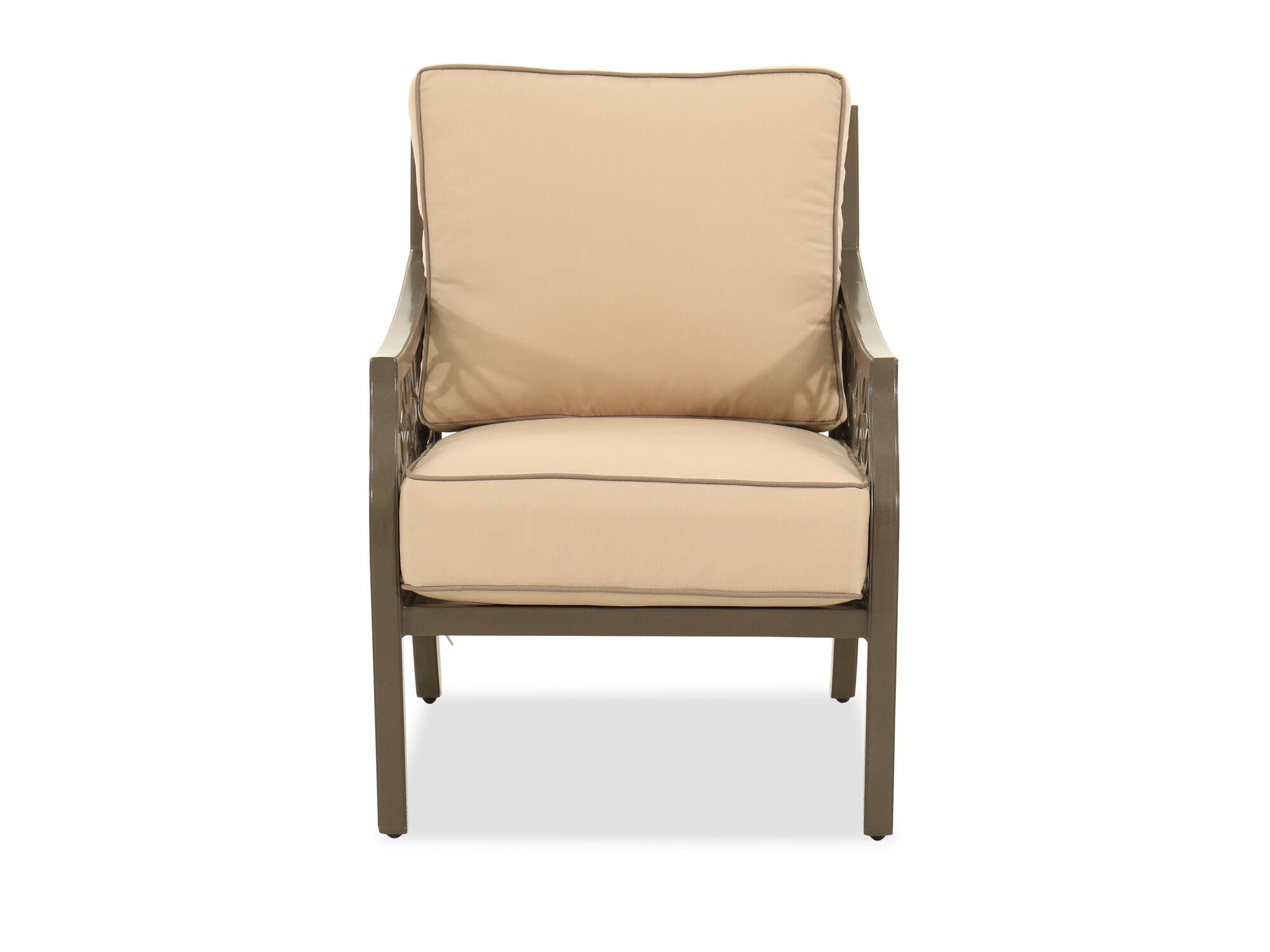 LatticeBack Cushioned Patio Club Chair in Brown  Mathis