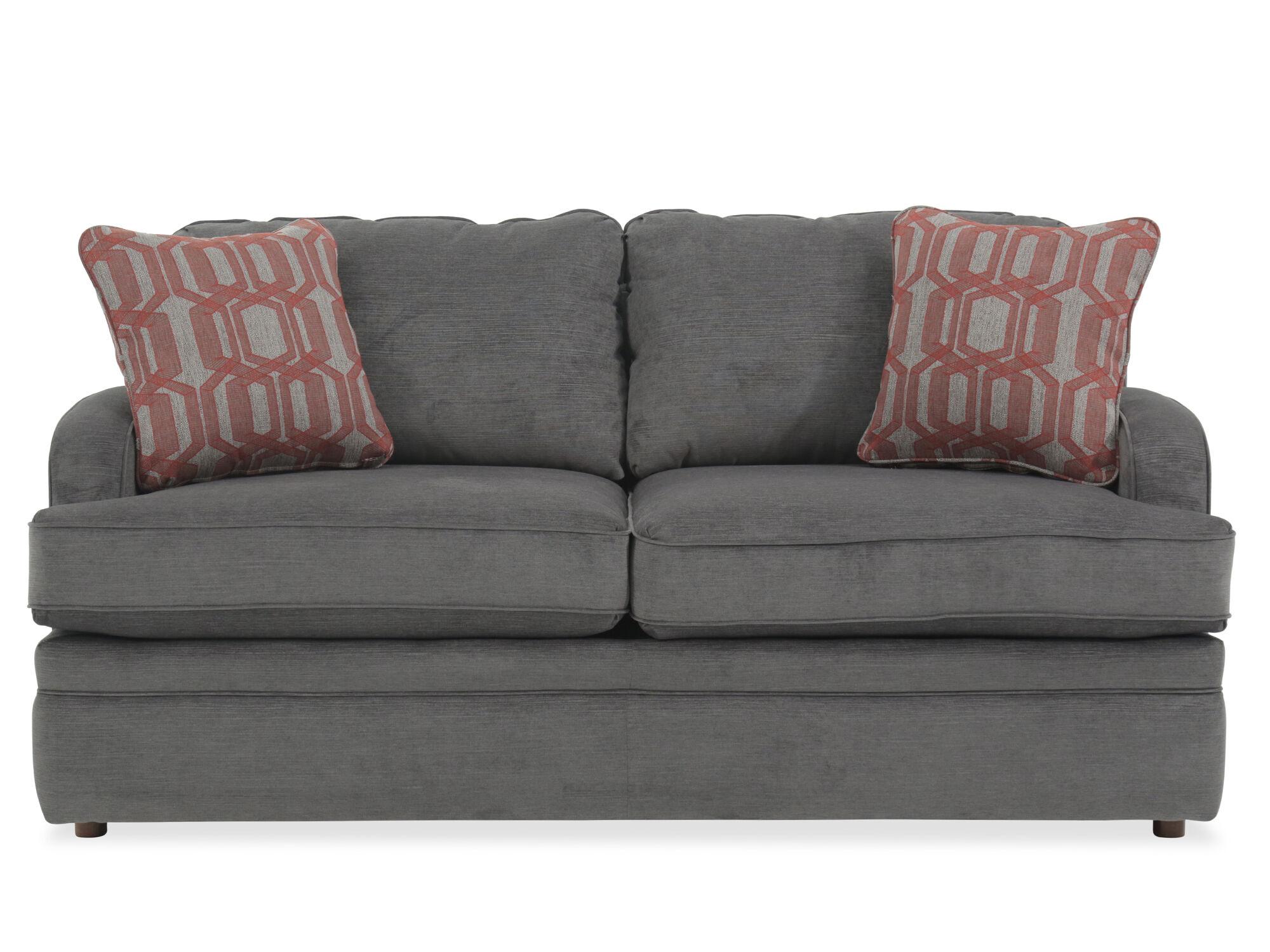 "Traditional 69"" Full Sleeper Sofa in Gray   Mathis ..."