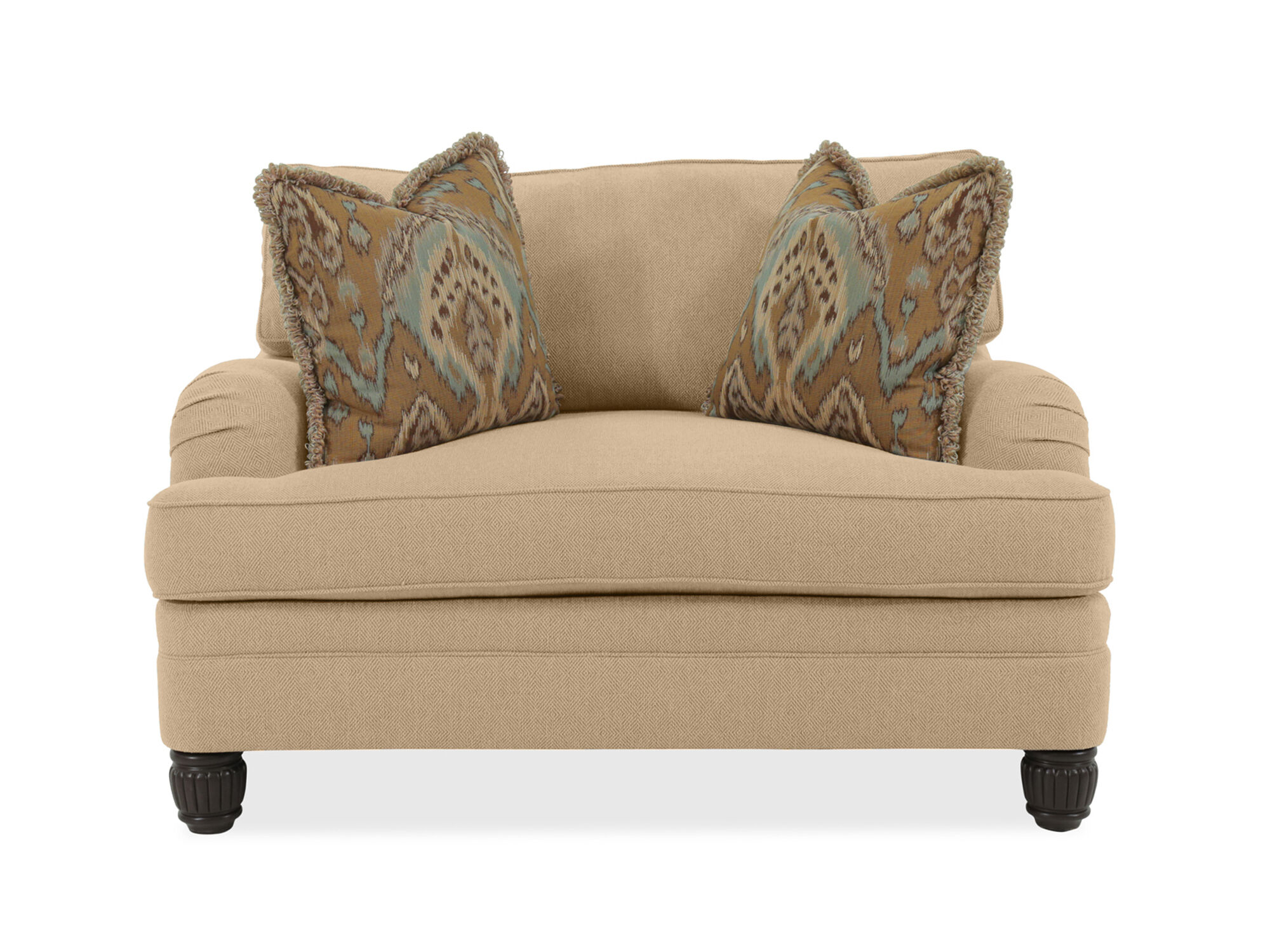 bernhardt walsh sofa 3 seat recliner diamond textured casual 54 5 quot chair and a half in beige
