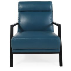 Accent Chair Blue Mid Century Living Room Chairs Contemporary 29 Quot In Dark Mathis