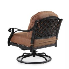 Patio Club Chair Local Rentals Button Tufted Aluminum Swivel In Brown