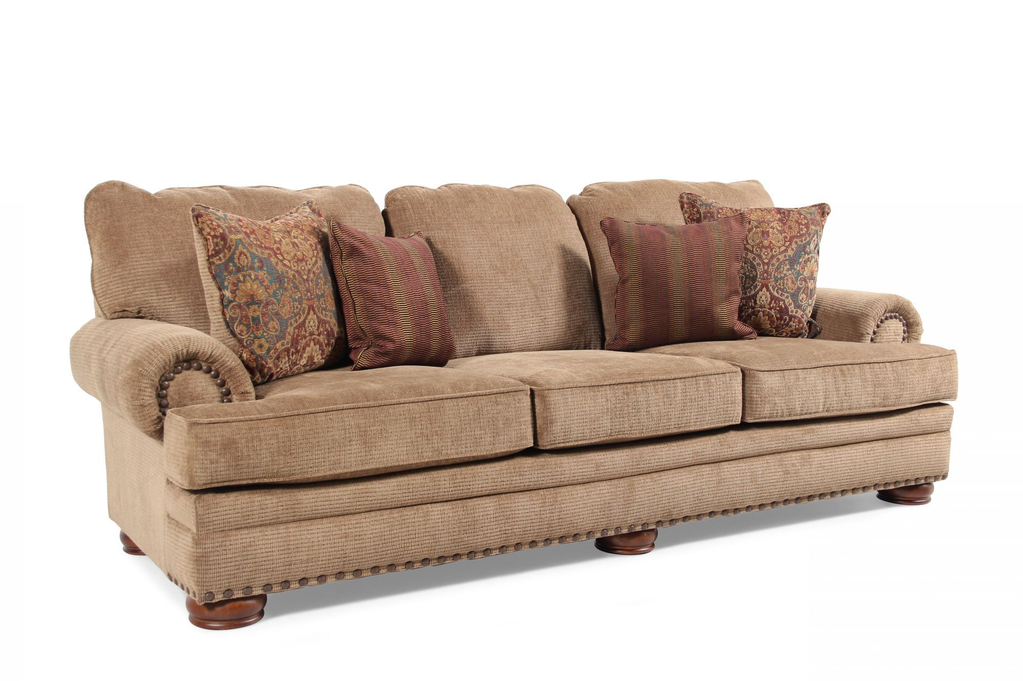 durham sofa by birch lane leather automatic reclining furniture sofas they arrived