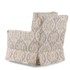 Home Decor Accent Chairs Office Chair Leather Paisley Patterned Transitional 29 5 Quot Swivel In Cream