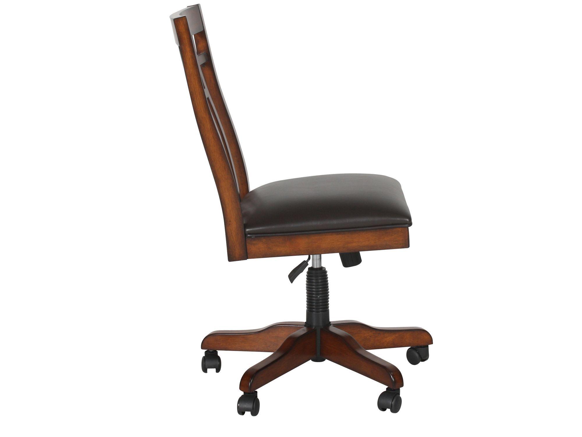 zahara swivel chair bed twin sleeper spladder back tilt office in medium oak