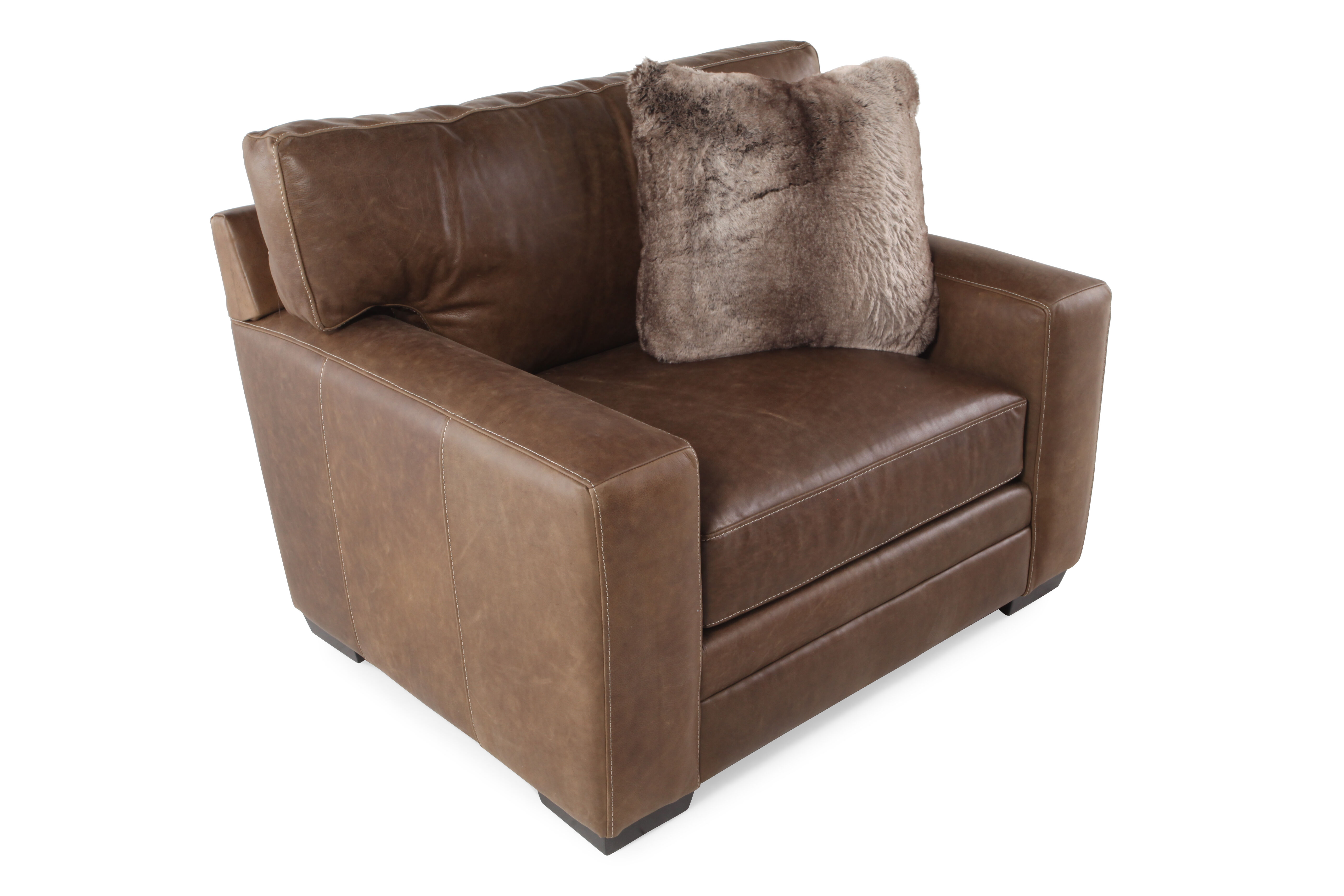 low profile chairs office chair spare parts leather 47 quot and a half in brown mathis