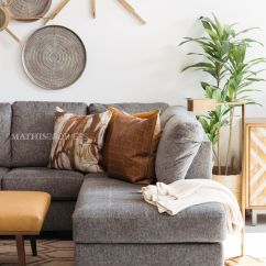 Sofas Tulsa Ok Sofa Cleaners In Bangalore Two-piece Contemporary Sectional Gray   Mathis Brothers ...